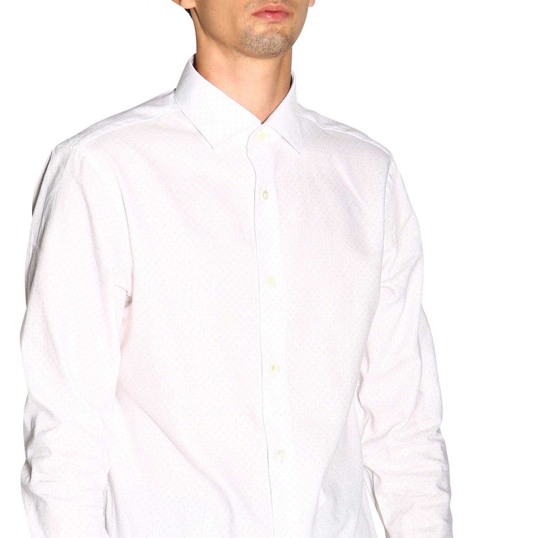 Camisa Z Zegna: Camisa Alessio Z Zegna con cuello francés de micro lunares blanco 5