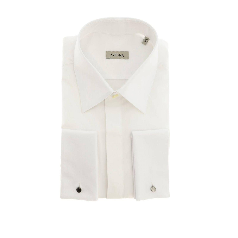 Z Zegna 标准领棉衬衫 白色 1