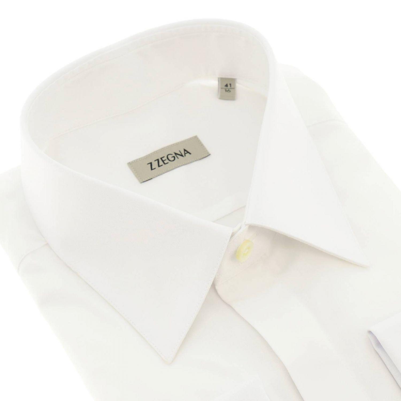 Z Zegna 标准领棉衬衫 白色 2