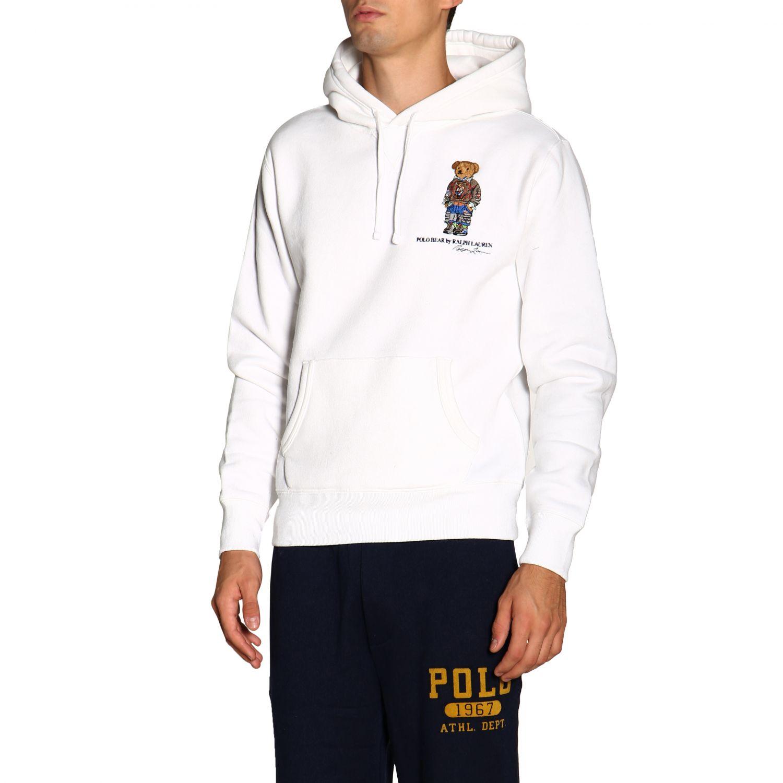Свитер Polo Ralph Lauren: Толстовка Polo Ralph Lauren с капюшоном белый 4