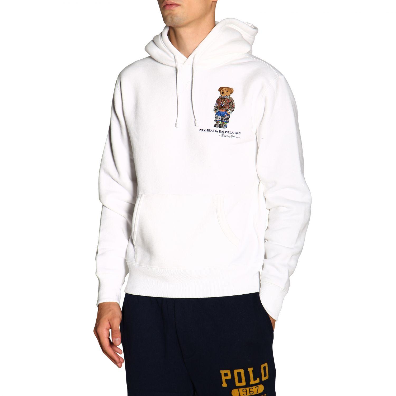 Свитер Polo Ralph Lauren: Толстовка Polo Ralph Lauren с капюшоном белый 5