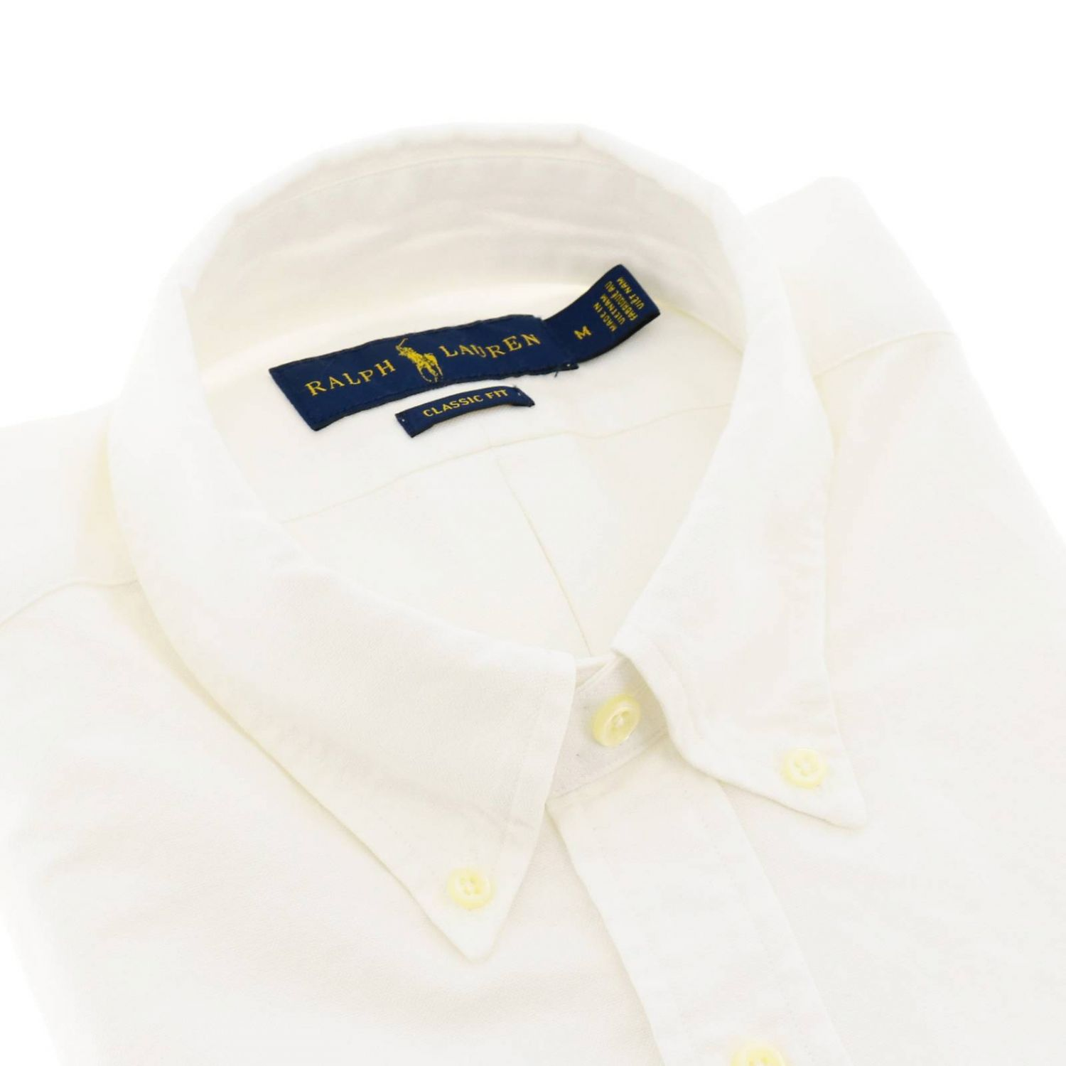 Custom fit Oxford shirt with button down collar and Polo Ralph Lauren logo white 2