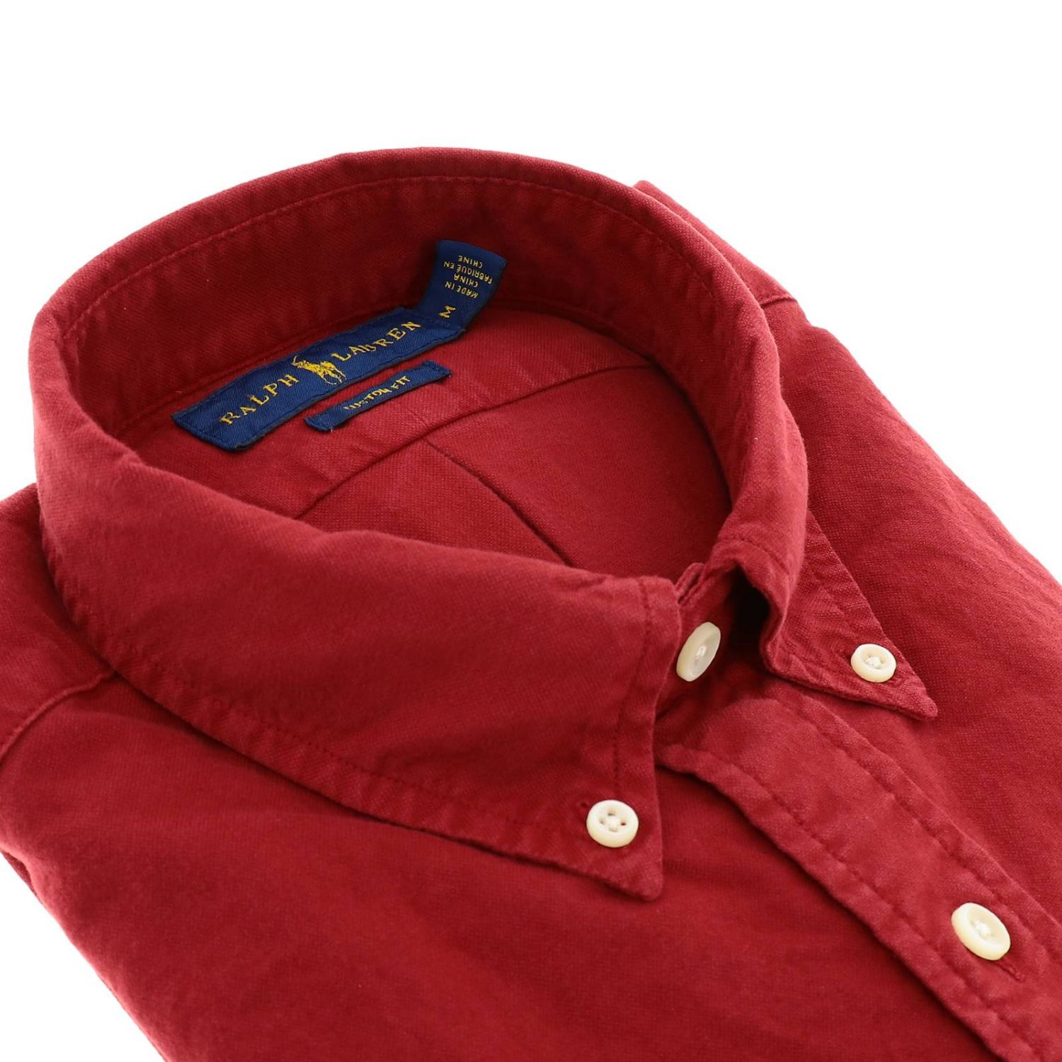 Chemise Oxford custom fit avec col button down et logo Polo Ralph Lauren rouge 2