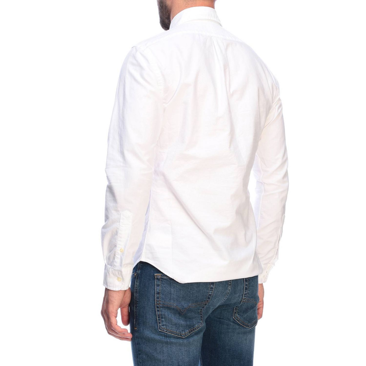 Chemise Oxford slim fit avec col button down et logo Polo Ralph Lauren blanc 2
