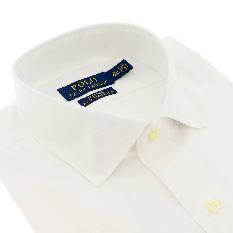 Custom fit shirt with Italian collar and Polo Ralph Lauren logo white 2