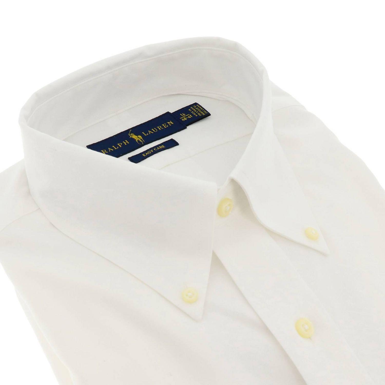 Camicia custom fit no iron con collo button down e logo Polo Ralph Lauren bianco 2