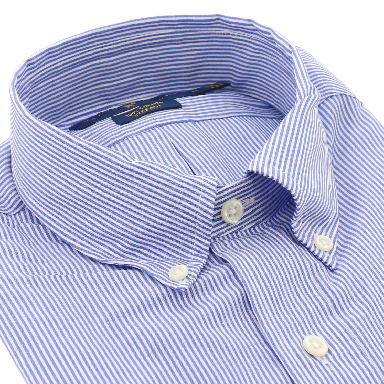 Polo Ralph Lauren logo印花纽扣领府绸衬衫 浅蓝色 2