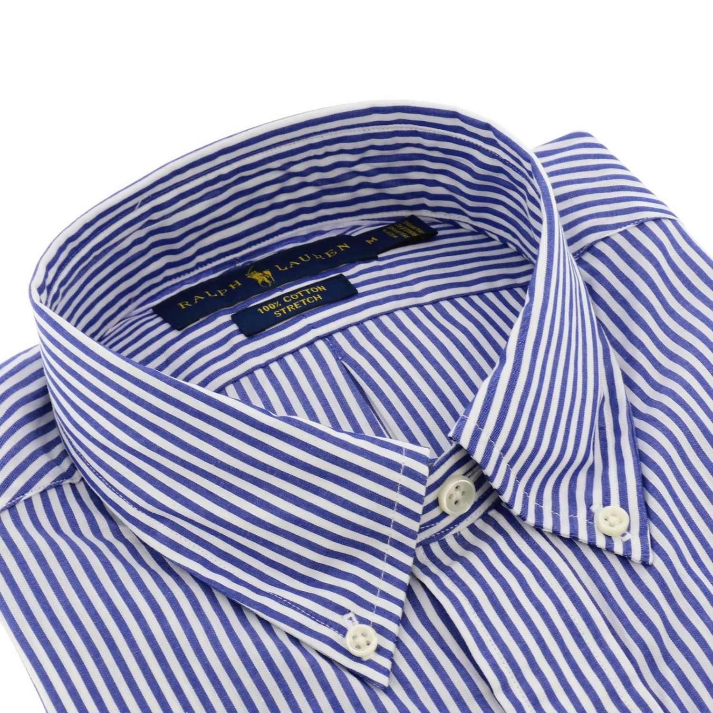 Camicia custom fit stretch con collo button down e logo Polo Ralph Lauren blue 2
