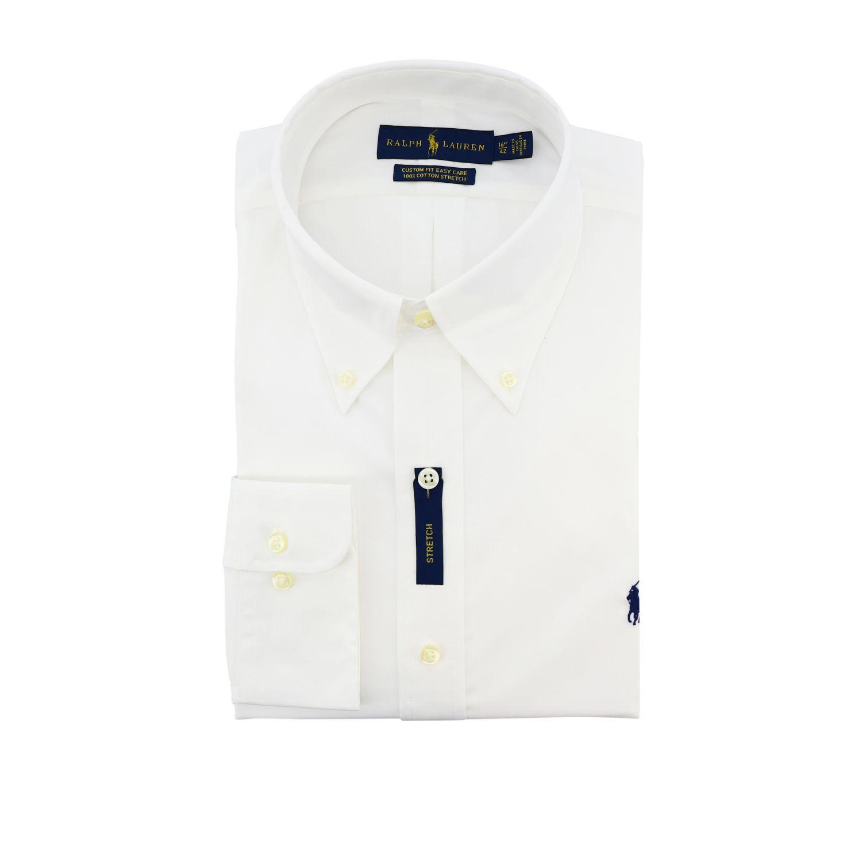 Camisa de algodón con cuello abotonado y logo de Polo Ralph Lauren blanco 1