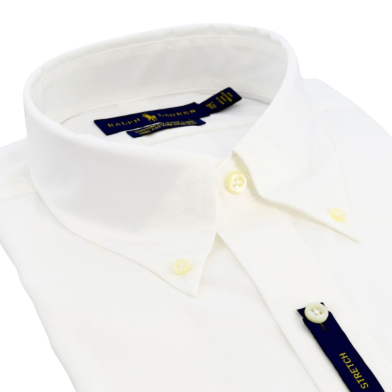 Camisa de algodón con cuello abotonado y logo de Polo Ralph Lauren blanco 2