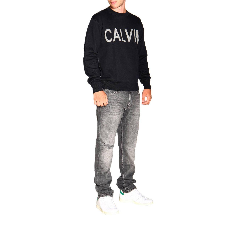 Pull Calvin Klein Jeans: Pull homme Calvin Klein Jeans noir 2
