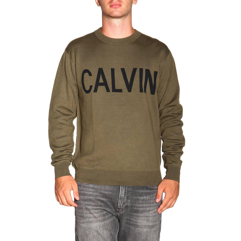 毛衣 男士 Calvin Klein Jeans 军绿色 1