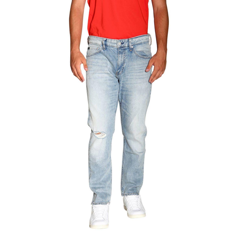 Джинсы Calvin Klein Jeans: Джинсы Мужское Calvin Klein Jeans потертый джинс 1