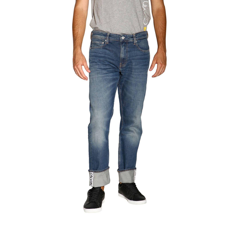 Джинсы Calvin Klein Jeans: Джинсы Мужское Calvin Klein Jeans серо-бежевый 1