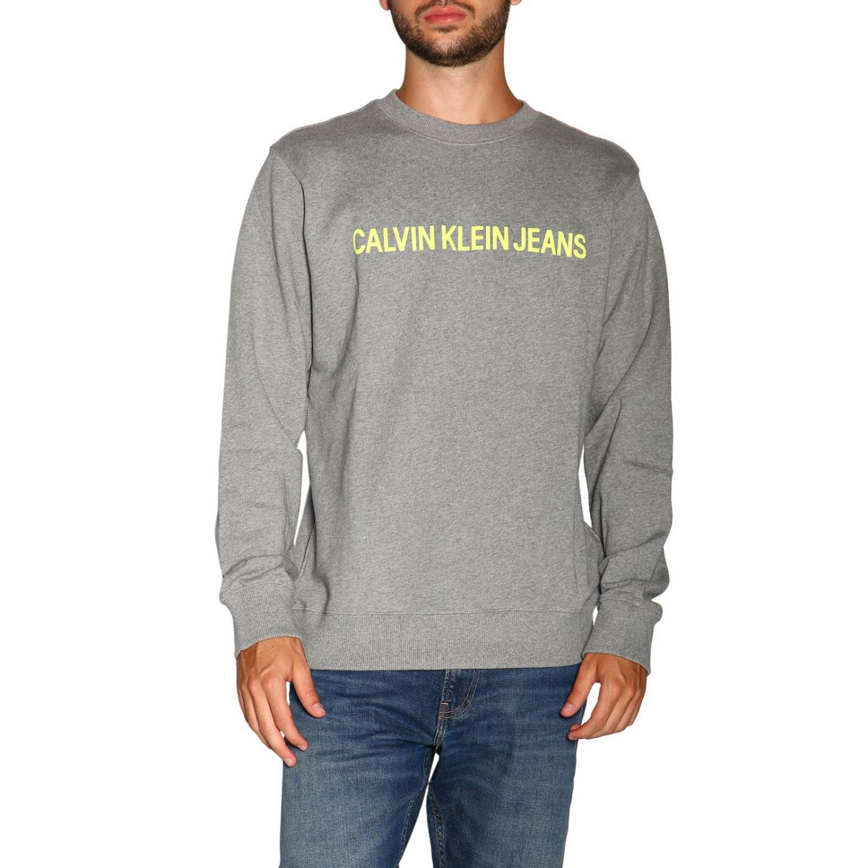 Pull Calvin Klein Jeans: Pull homme Calvin Klein Jeans gris 1
