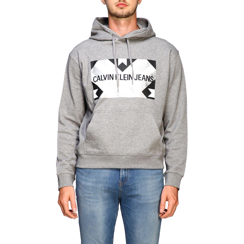 Sweatshirt Calvin Klein Jeans: Sweater men Calvin Klein Jeans grey 1
