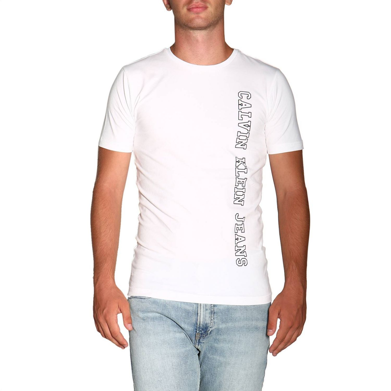 T-shirt Calvin Klein Jeans: T-shirt men Calvin Klein Jeans white 1