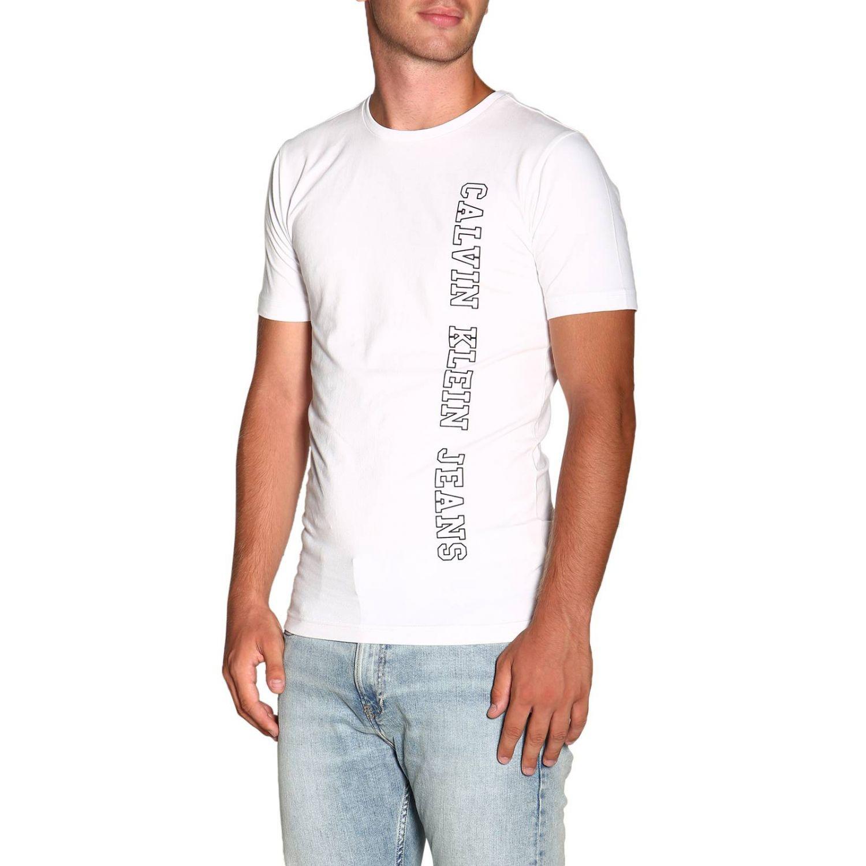 T-shirt Calvin Klein Jeans: T-shirt men Calvin Klein Jeans white 4