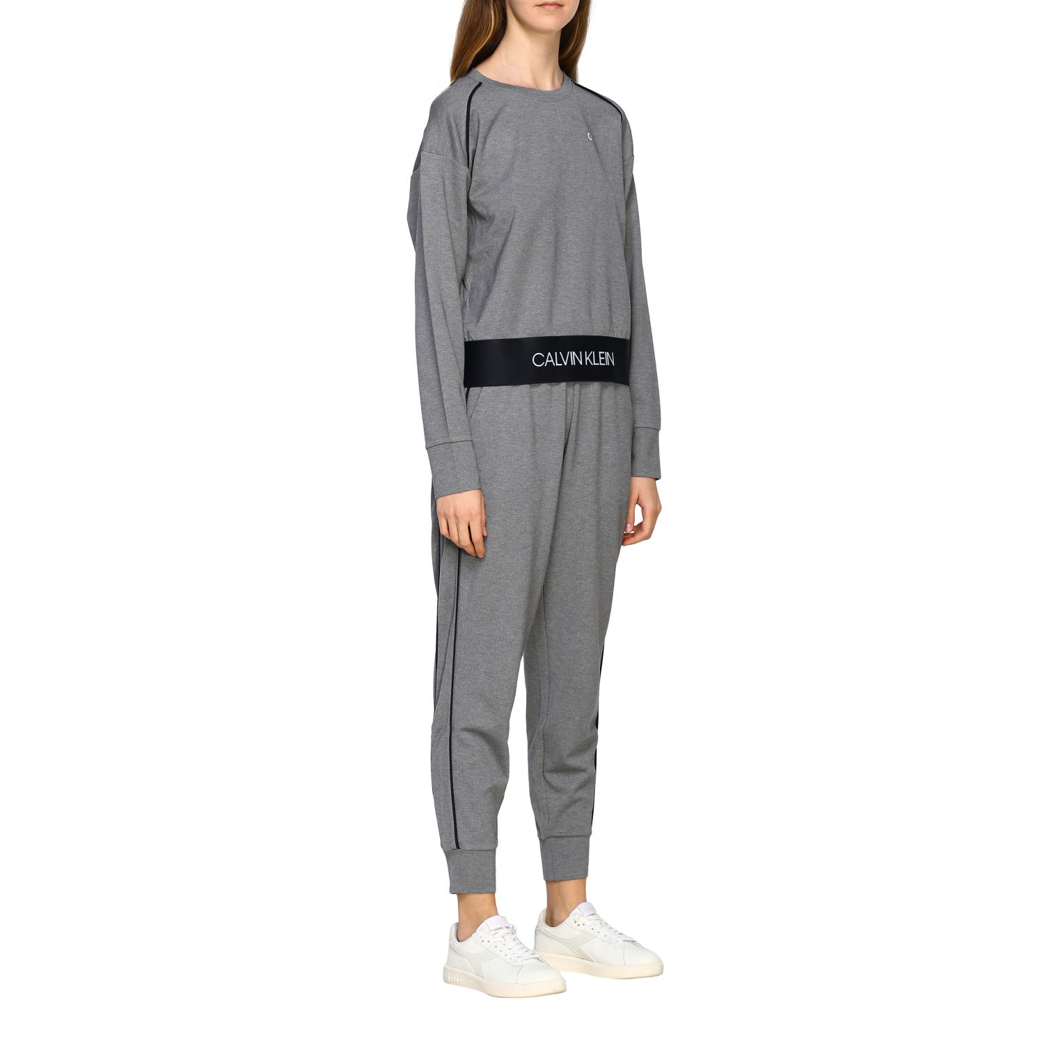 Sweater women Calvin Klein Performance grey 2