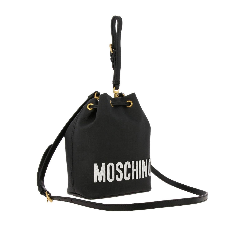 Sac seau Moschino Couture en cuir synthétique avec Teddy gladiateur noir 3