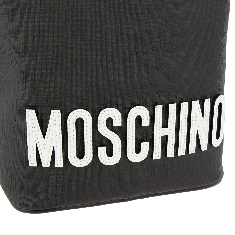 Sac seau Moschino Couture en cuir synthétique avec Teddy gladiateur noir 4
