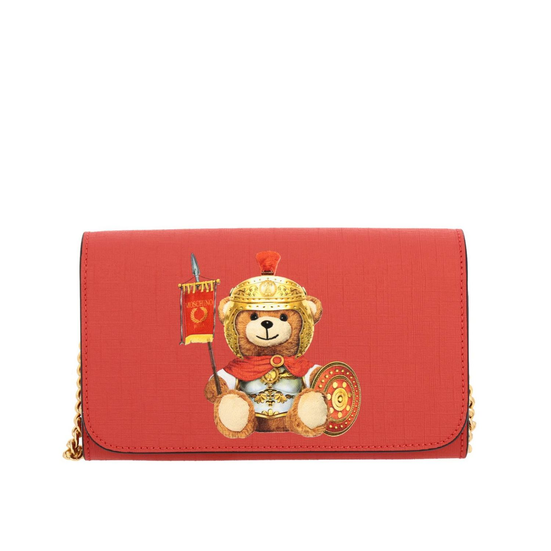 Sac bandoulière Moschino Couture en cuir synthétique avec impression Teddy gladiateur rouge 1