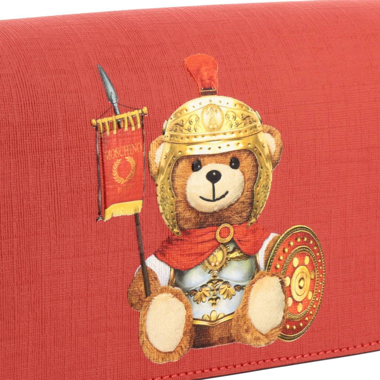 Sac bandoulière Moschino Couture en cuir synthétique avec impression Teddy gladiateur rouge 4