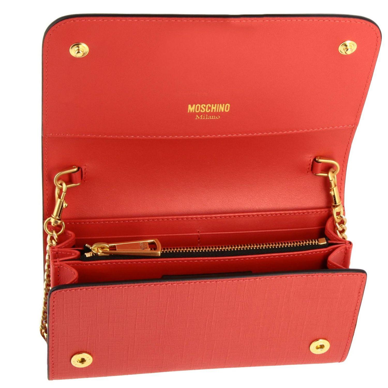 Sac bandoulière Moschino Couture en cuir synthétique avec impression Teddy gladiateur rouge 5