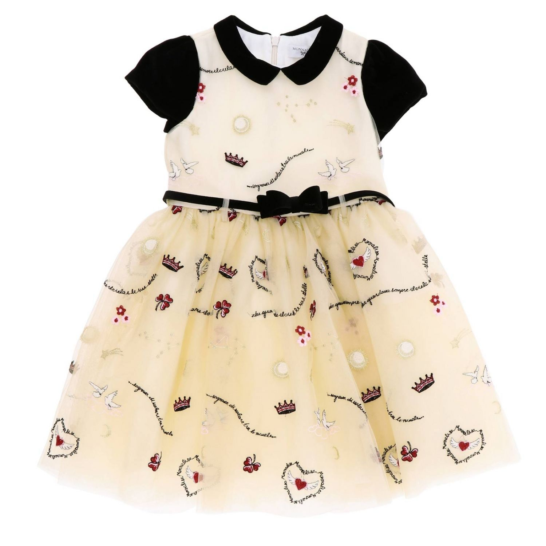 Платье Monnalisa: Платье Детское Monnalisa бежевый 1