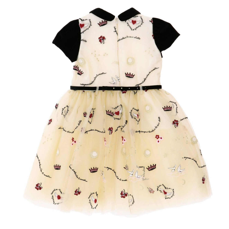 Платье Monnalisa: Платье Детское Monnalisa бежевый 2