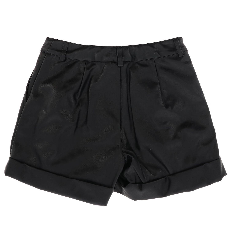 Shorts Monnalisa in pelle sintetica nero 2