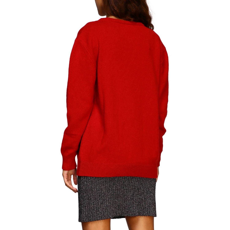 Sweater Alberta Ferretti: Alberta Ferretti crew-neck pullover with lurex embroidery help me red 3