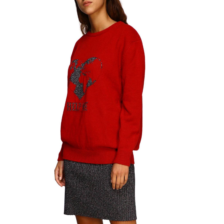 Sweater Alberta Ferretti: Alberta Ferretti crew-neck pullover with lurex embroidery help me red 4