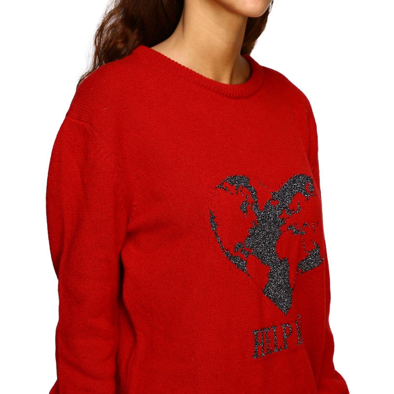 Sweater Alberta Ferretti: Alberta Ferretti crew-neck pullover with lurex embroidery help me red 5