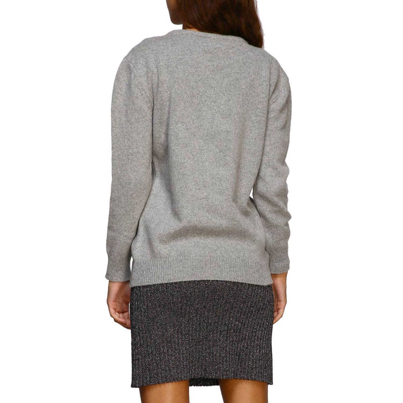毛衣 Alberta Ferretti: Alberta Ferretti 金银丝刺绣圆领毛衣 灰色 3