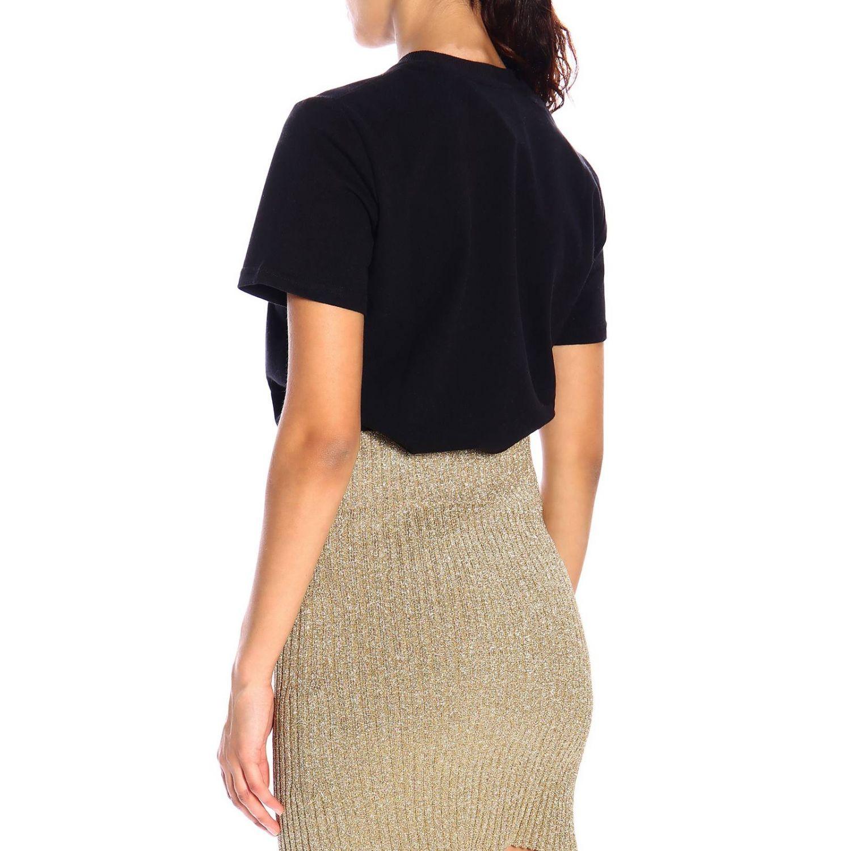 Camiseta Alberta Ferretti: Camiseta de manga corta Alberta Ferretti con bordado de lurex help me negro 3