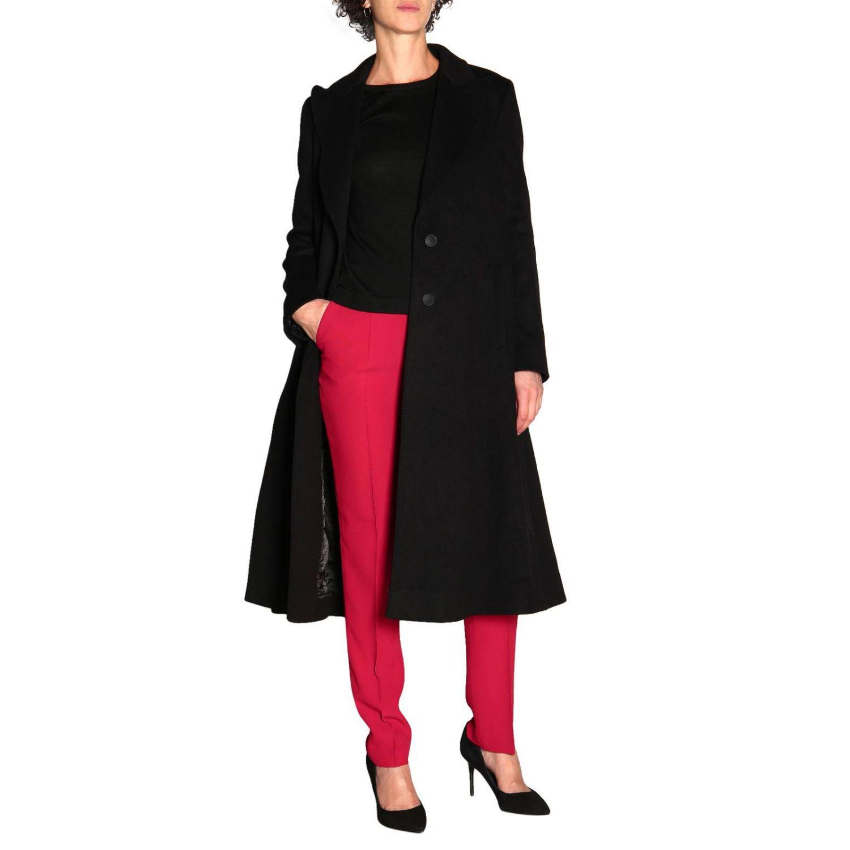 Пальто Alberta Ferretti: Пальто Alberta Ferretti с боковыми вырезами черный 2