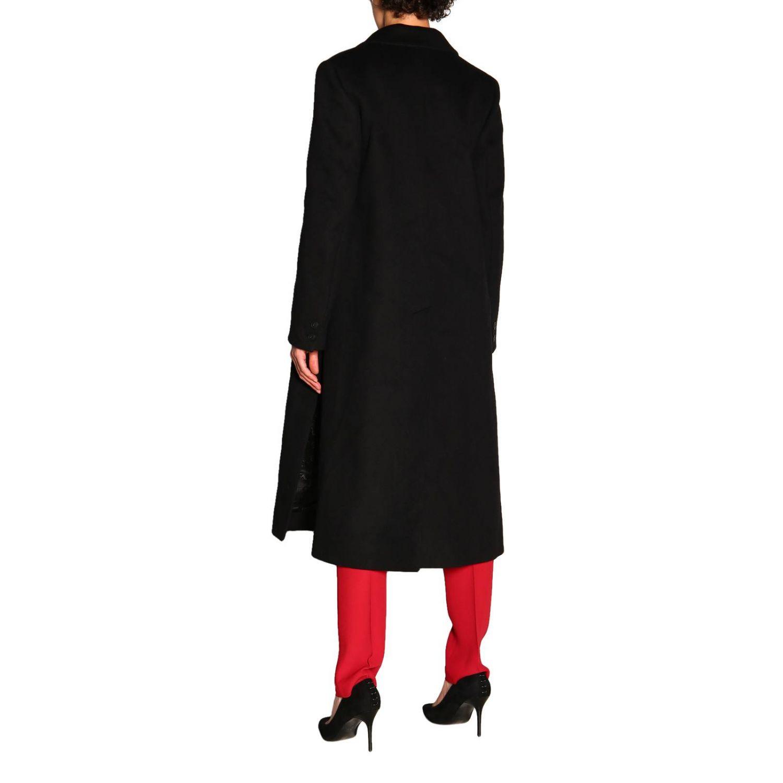 Пальто Alberta Ferretti: Пальто Alberta Ferretti с боковыми вырезами черный 3