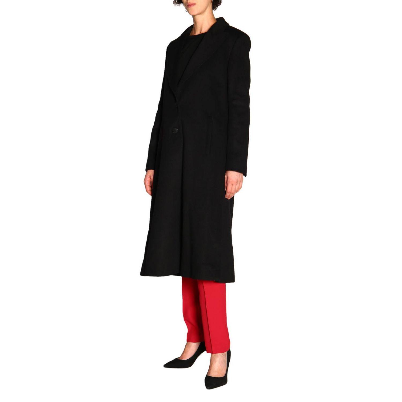 Пальто Alberta Ferretti: Пальто Alberta Ferretti с боковыми вырезами черный 4