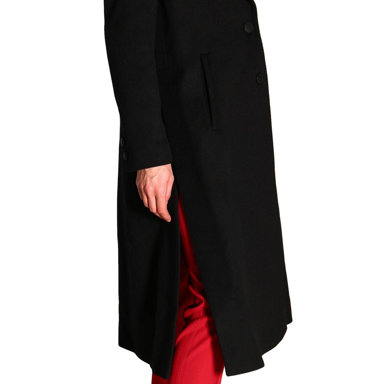 Пальто Alberta Ferretti: Пальто Alberta Ferretti с боковыми вырезами черный 5