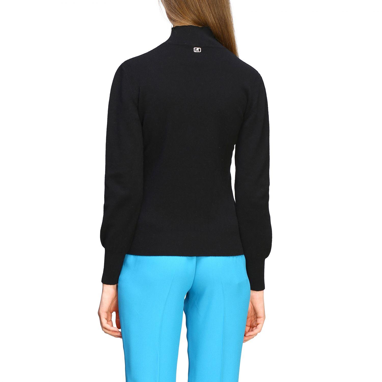 Jersey Alberta Ferretti: Jersey de cuello alto de lana Alberta Ferretti negro 2