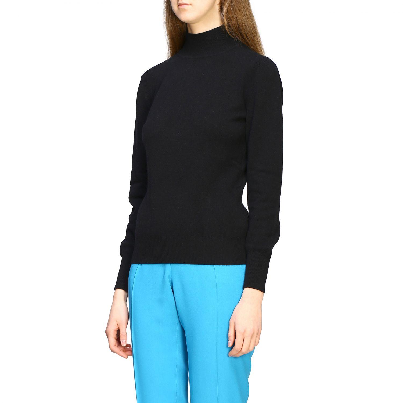 Jersey Alberta Ferretti: Jersey de cuello alto de lana Alberta Ferretti negro 3