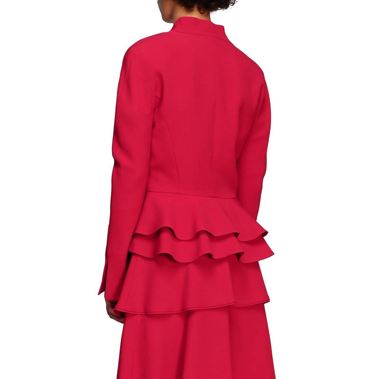 Jacket Alberta Ferretti: Alberta Ferretti silk jacket with rouches bottom ruby 3