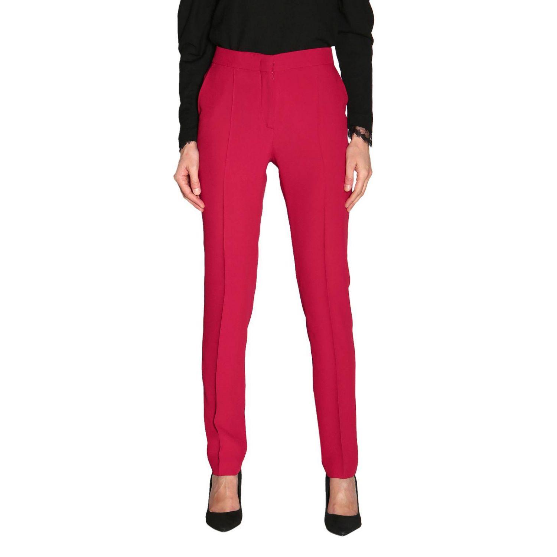 Pants Alberta Ferretti: Alberta Ferretti slim pants with American pockets ruby 1