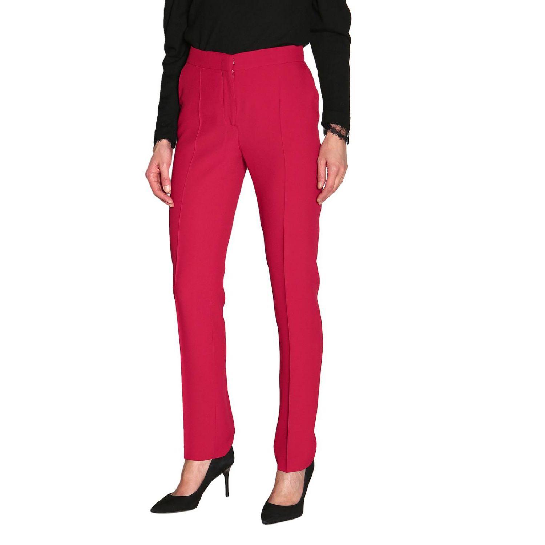 Pants Alberta Ferretti: Alberta Ferretti slim pants with American pockets ruby 4