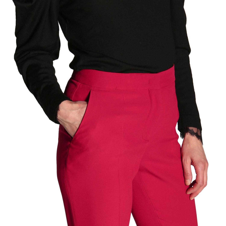 Брюки Alberta Ferretti: Брюки Alberta Ferretti с американскими карманами рубиновый 5