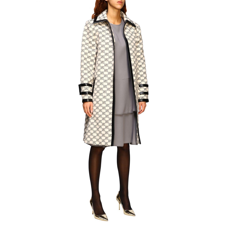 连衣裙 Alberta Ferretti: Alberta Ferretti 下半身褶边连衣裙 珍珠色 2