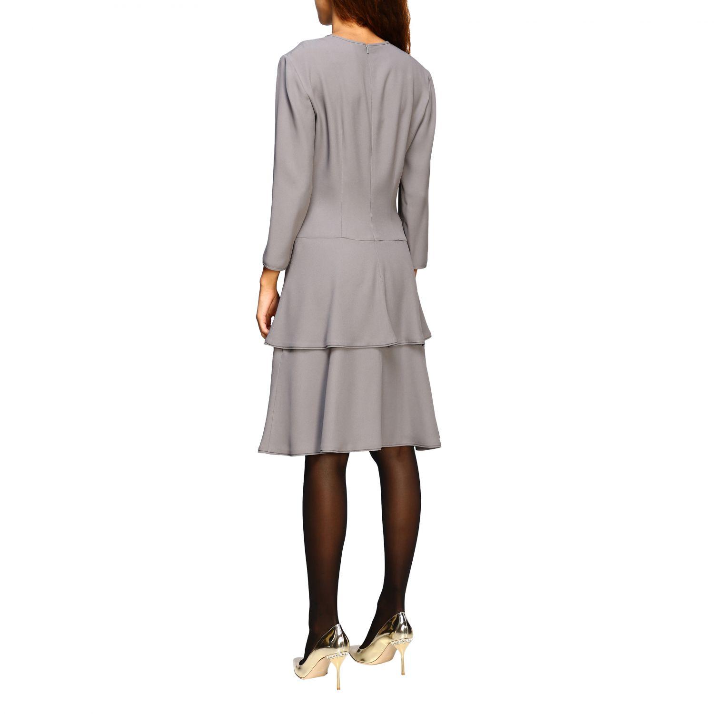 连衣裙 Alberta Ferretti: Alberta Ferretti 下半身褶边连衣裙 珍珠色 3