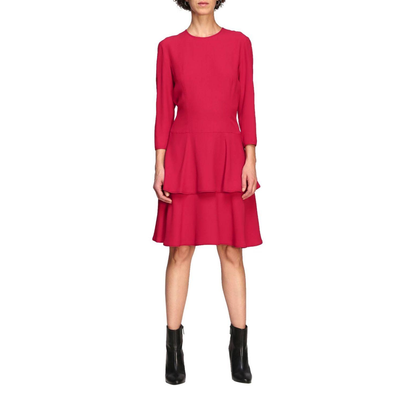 Vestido Alberta Ferretti: Vestido Alberta Ferretti con fondo de volantes rubí 1
