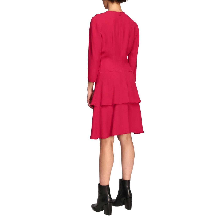 Vestido Alberta Ferretti: Vestido Alberta Ferretti con fondo de volantes rubí 3